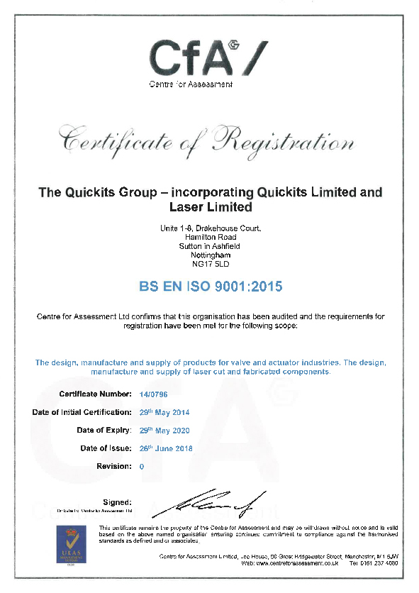 ISO 9001.2015 CERTIFICATE 2018-2020